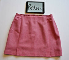 BODEN NEW Skirt Tweed by Moon Wool Skirt A-Line Pink Sz. 18R W38 L20