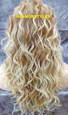 Layered Wavy Blonde Mix Full Lace Front Wig Heat Ok Hair piece #T27/613 NWT