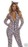Sexy Forplay Foxy Feline Leopard Catsuit Jumpsuit Costume 2pc Set 553725