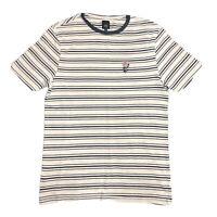 River Island Mens Beige Striped Short Sleeved Regular fit T-shirt UK Size: XS