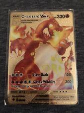 🌈Carte Pokémon Dracaufeu Charizard VMax Rainbow Métal Gold Card Karten🥇
