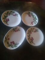 Vintage ORCHARD WARE China CHERRY Set 3 DINNER PLATE OVAL PLATTER LOT California