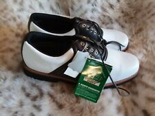 DUNLOP New w/Tags, Men's Classic Saddle Golf Shoes. Size 10.5. Helical Spikes