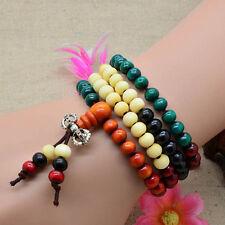 6mm Tibétain 108 Bois de santal Bouddhiste Prière Perles Mala Bracelet Collier