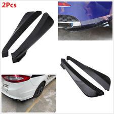 Glossy Black Car Rear Bumper Spoiler Wing Lip Diffuser Wear-resistant 1Pair 19in