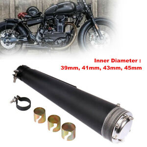 39mm-45mm Universal Stainless Steel Motorcycle Exhaust Muffler Pipe Refit Retro