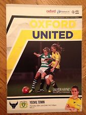 Oxford United Women v Yeovil - WS League Programme - 30/6/16