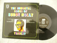 TRIDENT LP THE IMMORTAL SONGS OF BUDDY HOLLY avenue 0137 italy press..... 33 rpm
