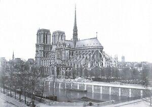 Black & White A4 Print of c1876-80 Notre Dame Cathedral, Paris, France 24P