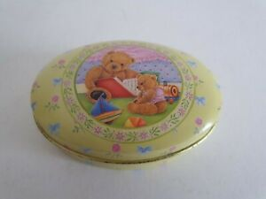 Small Vintage Teddy Bear Tin