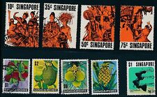1973 - 1975 Singapore VARIOUS USED ISSUES; ALL SOUND; CAT VALUE $48
