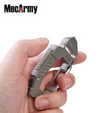 Titanium rechargeable EDC carabiner 360 lm flashlight FL10, Mecarmy, sandblast