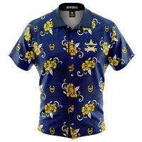 NQ Cowboys NRL 2021 Tribal Hawaiian Shirt Button Up Polo T Shirt Sizes S-5XL!