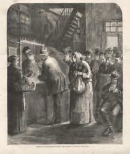 In a Pawnbroker's Shop  -  In the Bowery, New York City  - Original Print - 1873