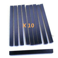 Nice 10PCS 40Pin 2.54mm Single Row Straight Female Pin Header Strip PBC Ardunio