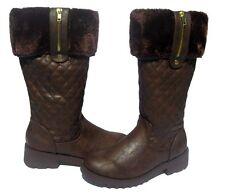 New Women's Fashion Waterproof BOOTS Snow Winter Brown shoe Ladies size 9