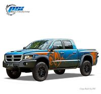 """Paintable Pocket Bolt Fender Flares Fits Dodge Dakota 05-11 5'4"""" Crew Cab Only"""