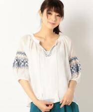 046 Korean Women's Fashion Embroidery Lace Tassel Shirt Blouse Top White