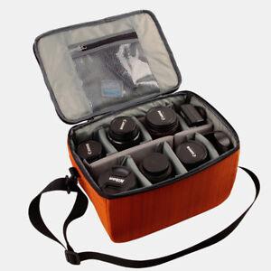 Large Camera Bag Insert Storage Case Partition For DSLR Canon Nikon Sony Lens