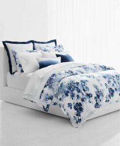 Lauren Ralph Lauren Flora Blue Full / Queen Duvet Cover & Shams Set retail $270