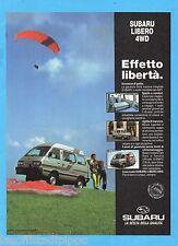 QUATTROR992-PUBBLICITA'/ADVERTISING-1992- SUBARU LIBERO 4WD