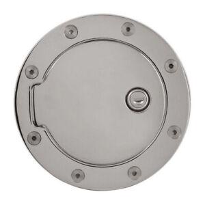 For Cadillac Escalade Chevy Silverado GMC Sierra Aluminum Fuel Door W/ Lock Key