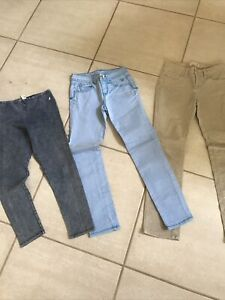 GIRLS Jeans- Lot Of 3--> ASizes:  Medium And Size 10
