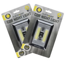 Electralight Cob Wall Night Light For Bedroom Cupboards Wardrobes Twin Pack