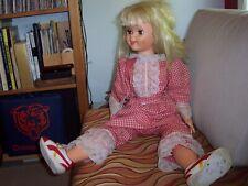 "Vintage 1960 Uneeda Walt Disney Props Pollyanna Girl Doll 31"" Tall"