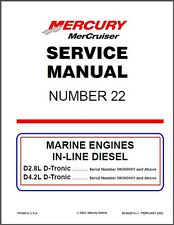 1997-2016 MerCruiser # 22 D2.8L D4.2L D-Tronic In-Line Diesel Service Manual CD
