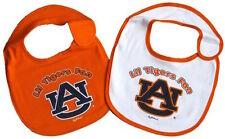 Auburn Tigers Infant Baby Bibs 2 Piece Bib Set AU Logo in Team Colors