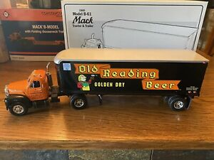"""First Gear Mack-B-Model Tractor Trailer """" Old Reading Brewery """" , 1/34 Scale"""