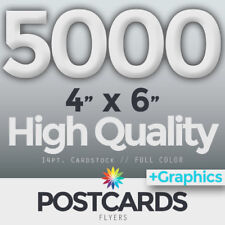 """5000 Full Color 4""""x6"""" POSTCARDS/FLYERS - BOTH SIDES - FREE DESIGN & SHIPPING"""