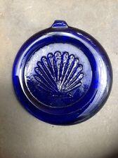 Colbalt Blue Beach Glass Seashell Suncatcher Textured Shell Figural