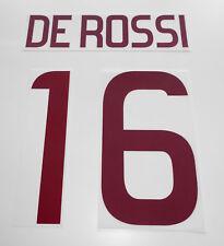 DE ROSSI 16 ROMA KIT PERSONALIZZAZIONE MAGLIA AWAY 2012 UFFICIALE NAME SET NEW