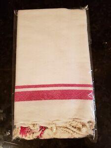 Turkish-T Butcher Kitchen Bar Hand Towel Cranberry New in Pkg 60 by 95 cm