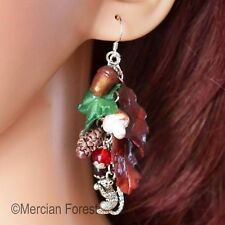 Autumn Forage Earrings - Pagan Jewellery, Equinox, Fall, Handmade, Wiccan, Witch