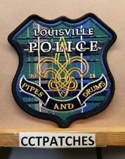 LOUISVILLE, KENTUCKY POLICE PIPES & DRUMS SHOULDER PATCH KY