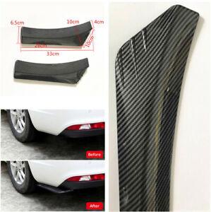 Carbon Fiber Style Universal Rear Bumper Lip Diffuser Splitter Canard Protector