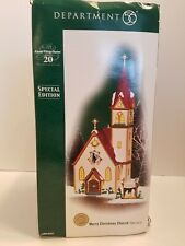 Department 56 Alpine Village Merry Christmas Church (Set of 2) #56.56237