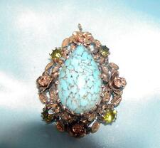 Made in AUSTRIA  Faux Turquoise Pendant