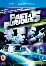 THE FAST AND THE FURIOUS FIVE - BLU-RAY - REGION B UK