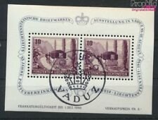 Liechtenstein Bloc 4 oblitéré 1946 Exposition philatélique (9029955