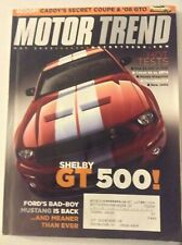 Motor Trend Magazine Shelby GT 500 Cobalt SS VS SRT4 May 2005 051819nonrh