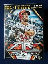 2017 Topps Fire Baseball Factory Sealed Blaster Box ~ 4 Exclusive Gold Cards!