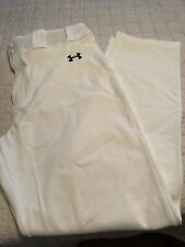 Mens Under Armour White Baseball Pants New Without Tags Size XL