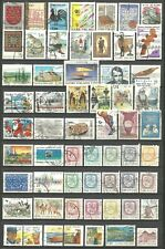 FINLAND - 59 used stamps from the 1980s