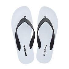 DIESEL Monochrome Black and white Flip Flops. Size 7