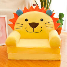 Cartoon Children Foldable Sofa Cover Chair Couch Seat Slipcover Yellow Lion