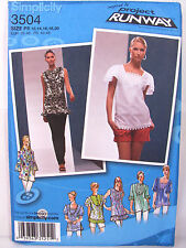 Simplicity 3504 Project Runway Top Sewing Pattern Sizes 12 14 16 18 20 Uncut